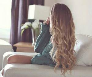 blonde, hairstyle, and curly image