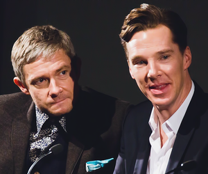 bbc, sherlock holmes, and Martin Freeman image