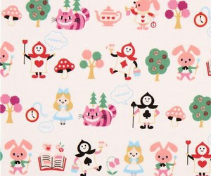 alice, pattern, and fabric image