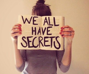 books, girl, and secrets image