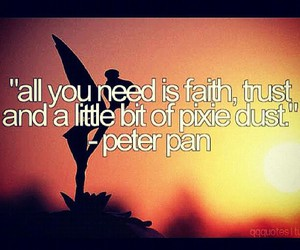 faith, peter pan, and pixie dust image