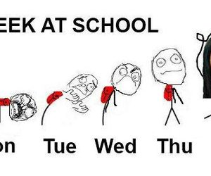 school, funny, and friday image