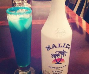 drink, malibu, and alcohol image