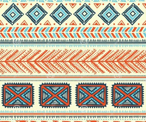 aztec, blue, and colorful image