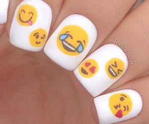 nails, emoji, and emojis image