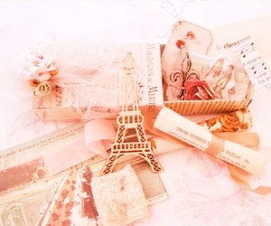 paris, vintage, and pink image