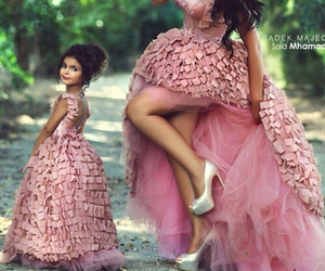 pink, dress, and daughter image