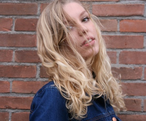 blond, curls, and jacket image