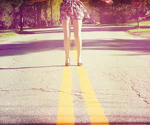 fashion, girl, and road image