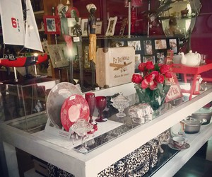 red, silver, and vitrine image