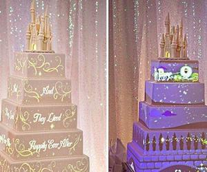 cake, wedding, and disney image