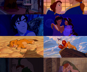 aladdin, beauty and beast, and belle image