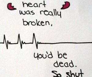 heart, broken, and dead image
