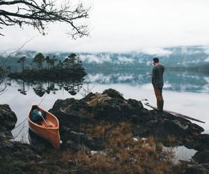 canoe, grunge, and vintage image