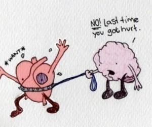 brain, heart, and hurt image