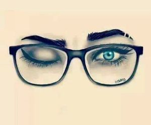 blue eyes and glasses image