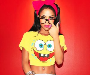 girl, glasses, and spongebob image