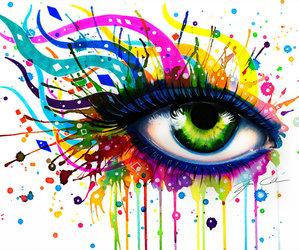 eye, art, and beautiful image