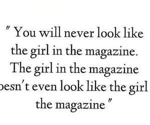 quote, girl, and magazine image