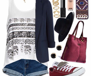 bag, clothes, and converse image