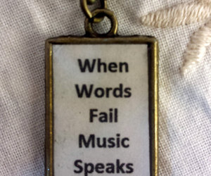 sing, song, and music necklace image