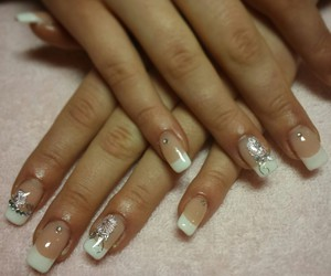 nails, white, and french_manicure image
