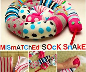 diy sock snake image