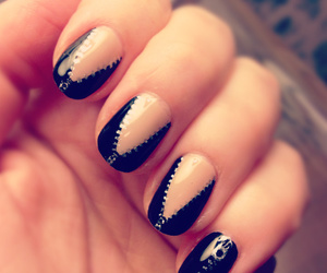 nails, black, and zipper image
