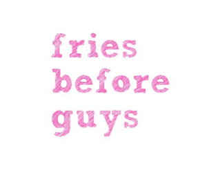 guy, fries, and food image