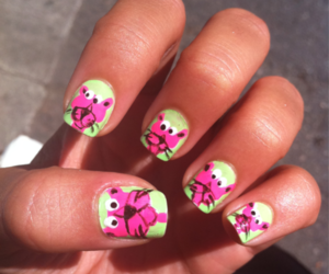 nails, panther, and pink image