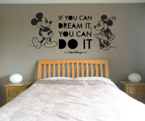 bed, bedroom, and disney image
