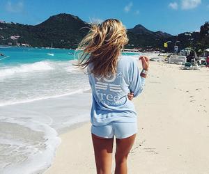 fashion, beach, and blue image
