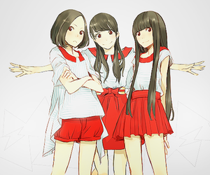 anime, red, and friends image
