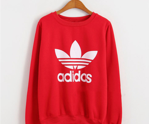 red, adidas, and fashion image
