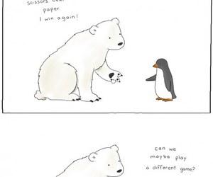 penguin, Polar Bear, and funny image