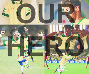 neymar, neymar jr, and brazil image