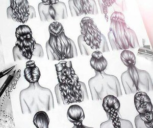 beautiful, drawings, and hairstyles image