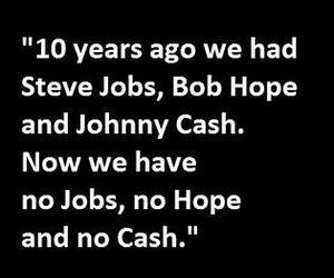 Steve Jobs, bob hope, and Johnny Cash image