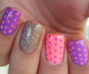 dots, glitter, and gold image