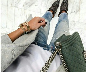 chanel, girl, and jeans image