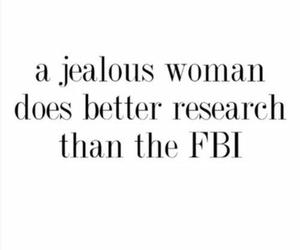 woman, fbi, and jealous image