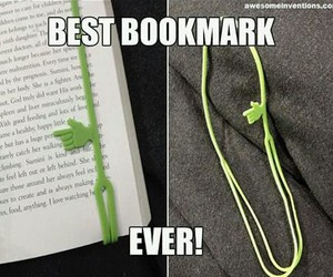 bookmark and green image