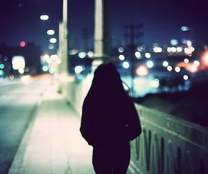 night, alone, and light image