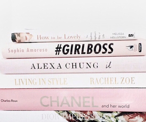 pink, book, and chanel image