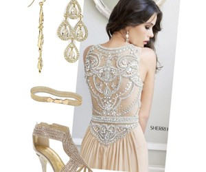 beaded, cream, and silver image