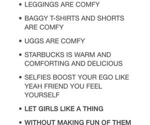 leggings, starbucks, and true image
