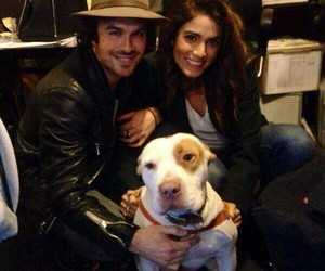 couple, dog, and nikki reed image