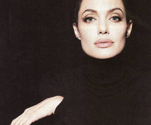 Angelina Jolie, black, and beauty image