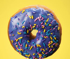 color, donut, and purple image