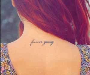 Forever Young, girl, and quote image